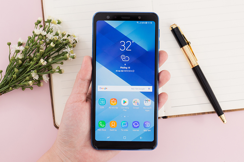 Giao diện Android điện thoại Samsung Galaxy A7 2018