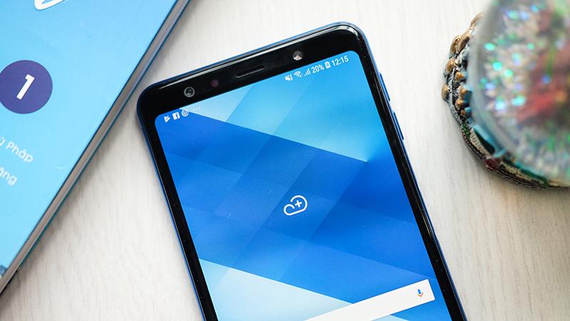 Phone - Samsung Galaxy A7 2018 - អេក្រង់ Super AMOLED ទំនើប