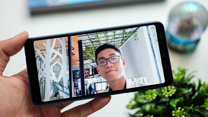 Selfie trên điện thoại Samsung Galaxy A7 2018