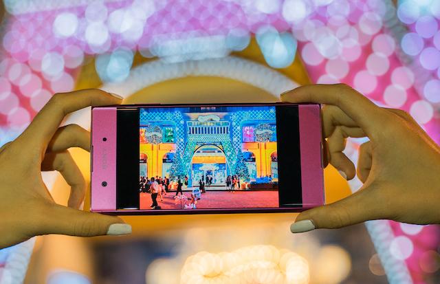 Giao diện camera điện thoại Sony Xperia XA1 Plus