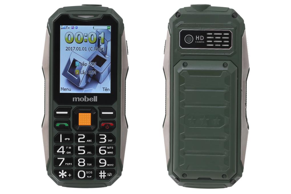 Màn hình, thiết kế điện thoại Mobell Rock 3