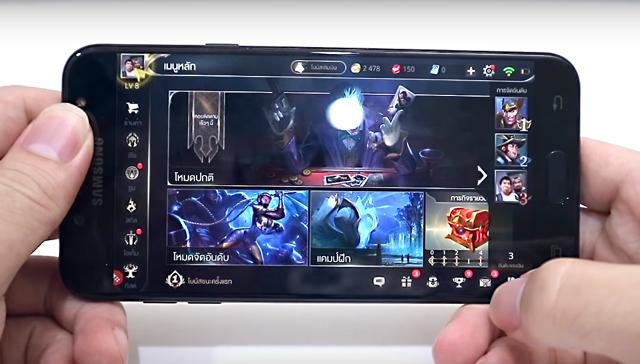 Khả năng chơi game trên điện thoại Samsung Galaxy J7 Plus