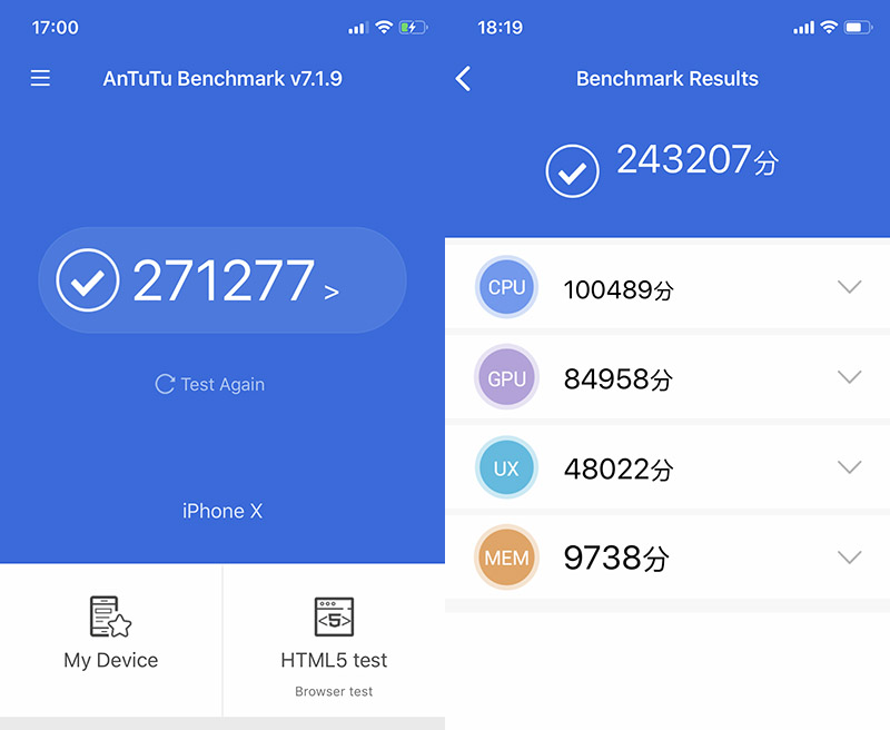 Điểm Antutu Benchmark trên iPhone X 256GB