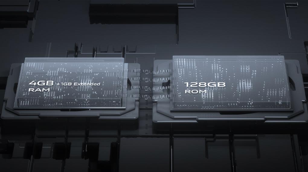Vivo Y21 - Trang bị RAM 4 GB, hỗ trợ công nghệ mở rộng RAM