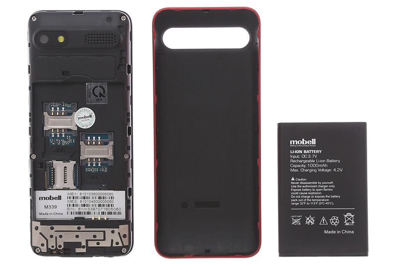 Mobell M339 - Khe SIM và thẻ nhớ