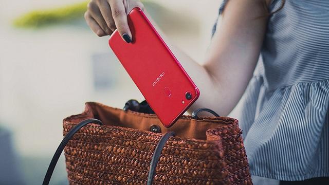 Cảm biến vân tay mặt lưng trên điện thoại OPPO F5 6GB