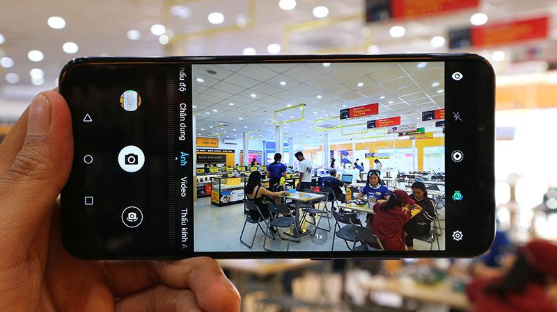 Giao diện camera điện thoại Huawei Nova 3