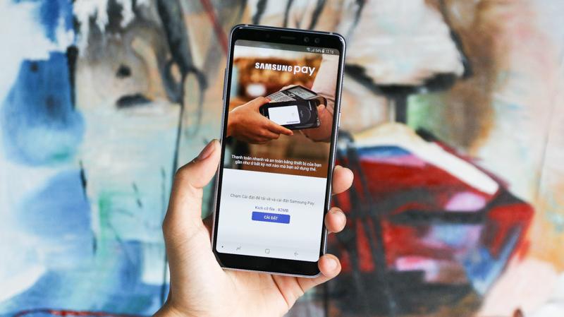 Samsung Pay trên Galaxy A8 (2018)