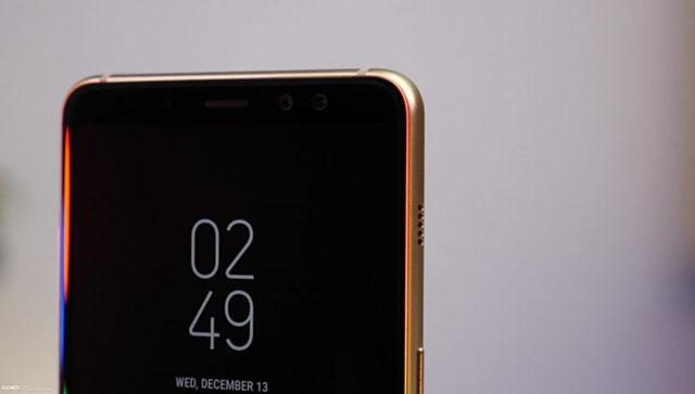 Samsung Galaxy A8 - អេក្រង់មានផ្ទៃសមាមាត្រ 18:9 ទាន់ម៉ូត