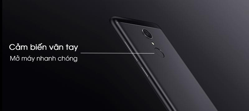 Bảo mật vân tay ở mặt lưng điện thoại Xiaomi Redmi 5