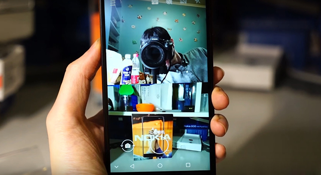 Giao diện chụp 2 camera cùng 1 lúc Nokia 6 (2018)