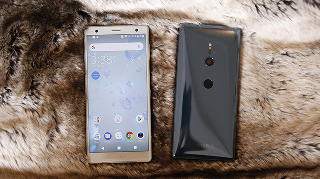 Giao diện Android điện thoại Sony Xperia XZ2