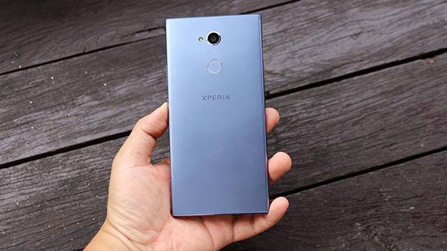 Bảo mật vân tay ở mặt lưng của điện thoại Sony Xperia XA2 Ultra