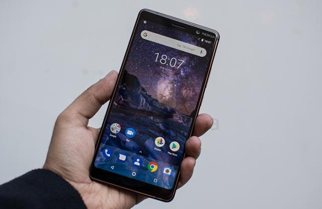 Giao diện Android trên điện thoại Nokia 7 Plus