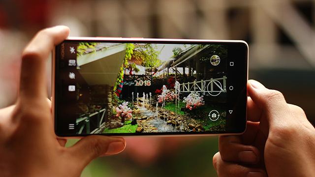 Giao diện chụp ảnh trên điện thoại Nokia 7 Plus