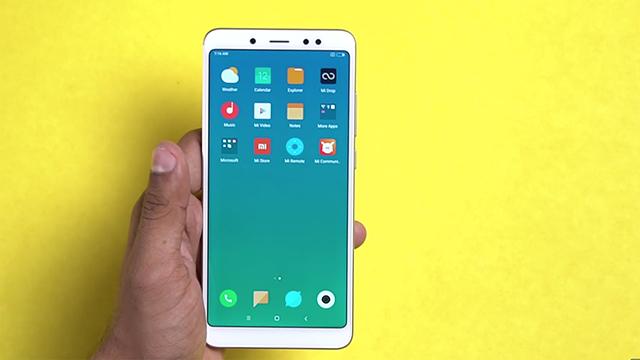 Thiết kế quen thuộc của điện thoại Xiaomi Redmi Note 5