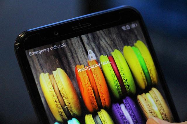 Máy mở khóa khá nhanh trên điện thoại Huawei Y7 Pro 2018
