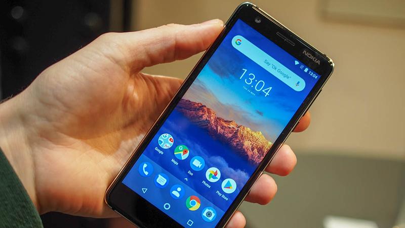 Màn hình tràn viền thời thượng của điện thoại Nokia 3.1