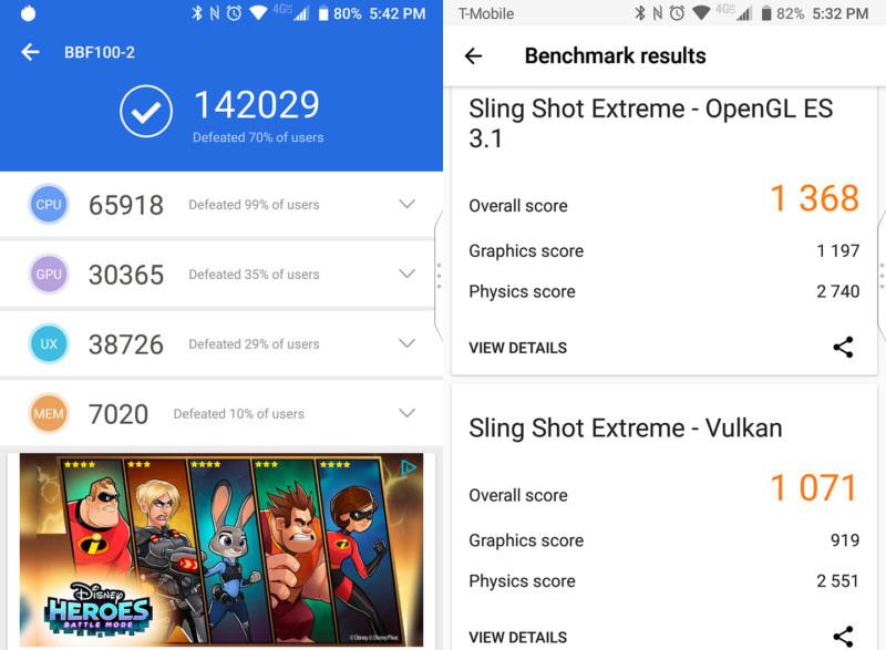 Điểm Antutu Benchmark trên BlackBerry KEY2