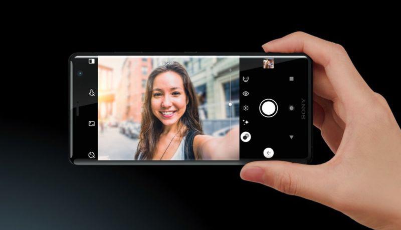 Giao diện camera của điện thoại Sony Xperia XZ3