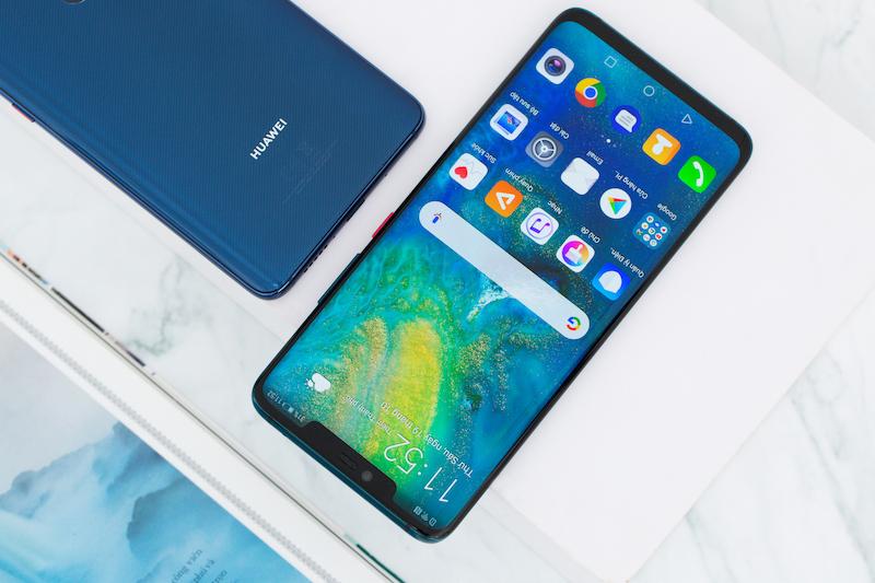 Giao diện Andorid trên điện thoại Huawei Mate 20