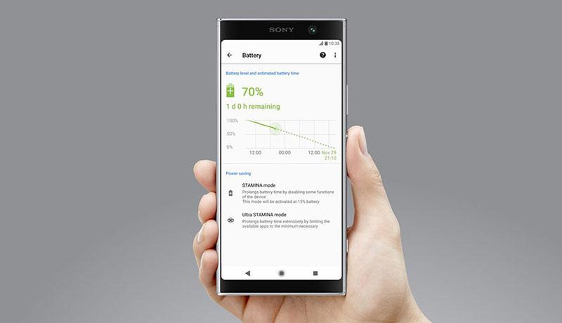 Thời lượng pin Sony Xperia XA2 Plus