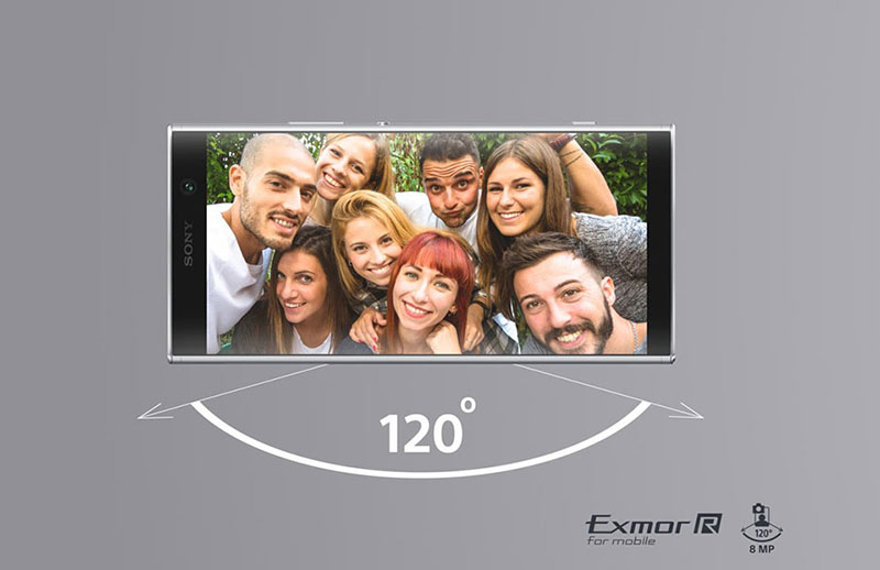 Camera trước selfie của điện thoại Sony Xperia XA2 Plus