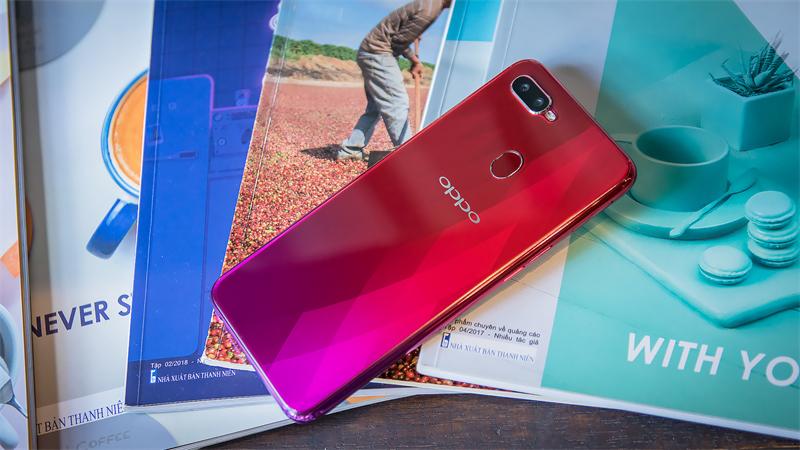 Cảm biến vân tay mặt lưng điện thoại OPPO F9