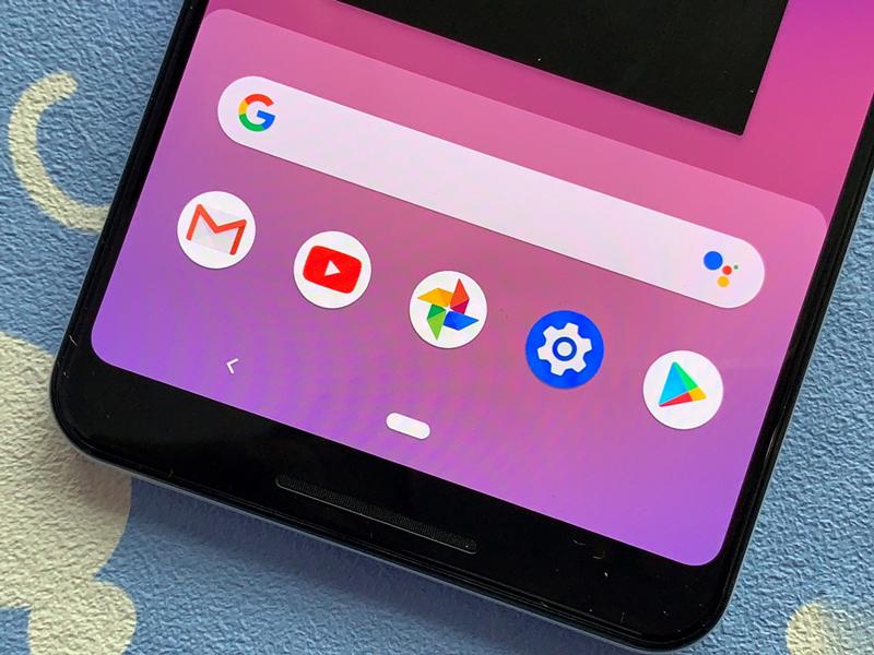 Dải loa được đặt phía trước trên Google Pixel 3 XL