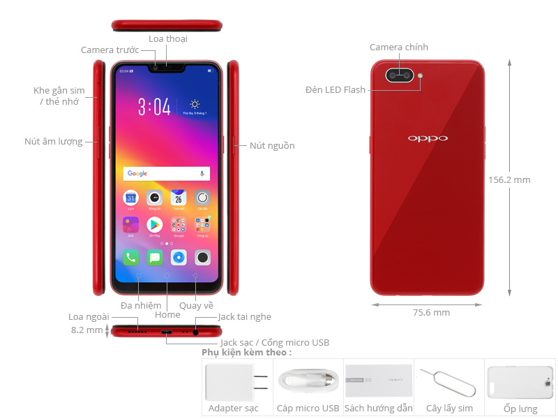 Oppo A3s Codes