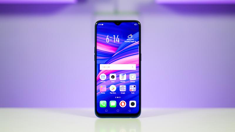 Màn hình điện thoại OPPO F9 Tím Tinh Tú