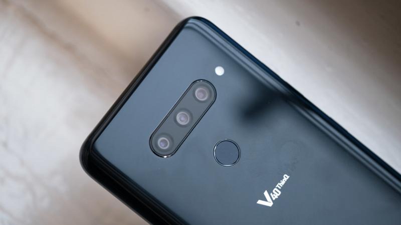 Chi tiết camera phía sau của LG V40 ThinQ