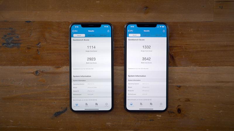 Điện thoại iPhone 11 Pro 64GB | Điểm hiệu năng khi so sánh vs iPhone Xs