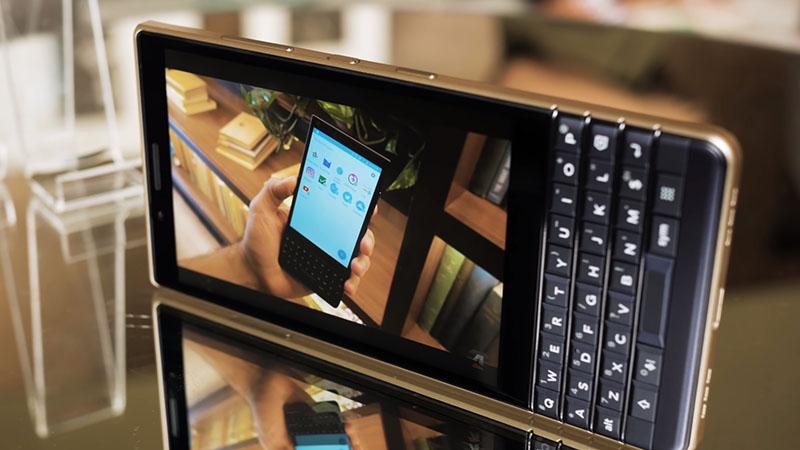 Màn hình của điện thoại BlackBerry KEY2 LE