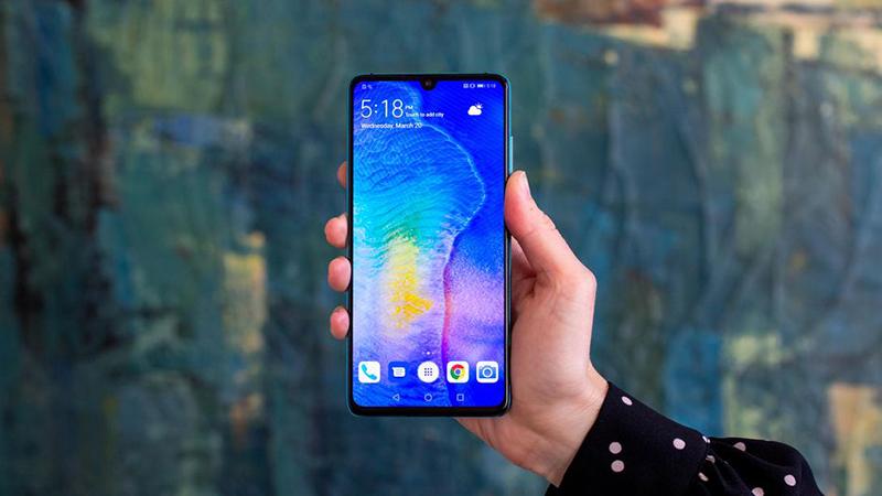 Thiết kế của điện thoại Huawei P30 chính hãng