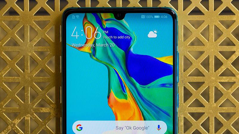 Màn hình của điện thoại Huawei P30 chính hãng