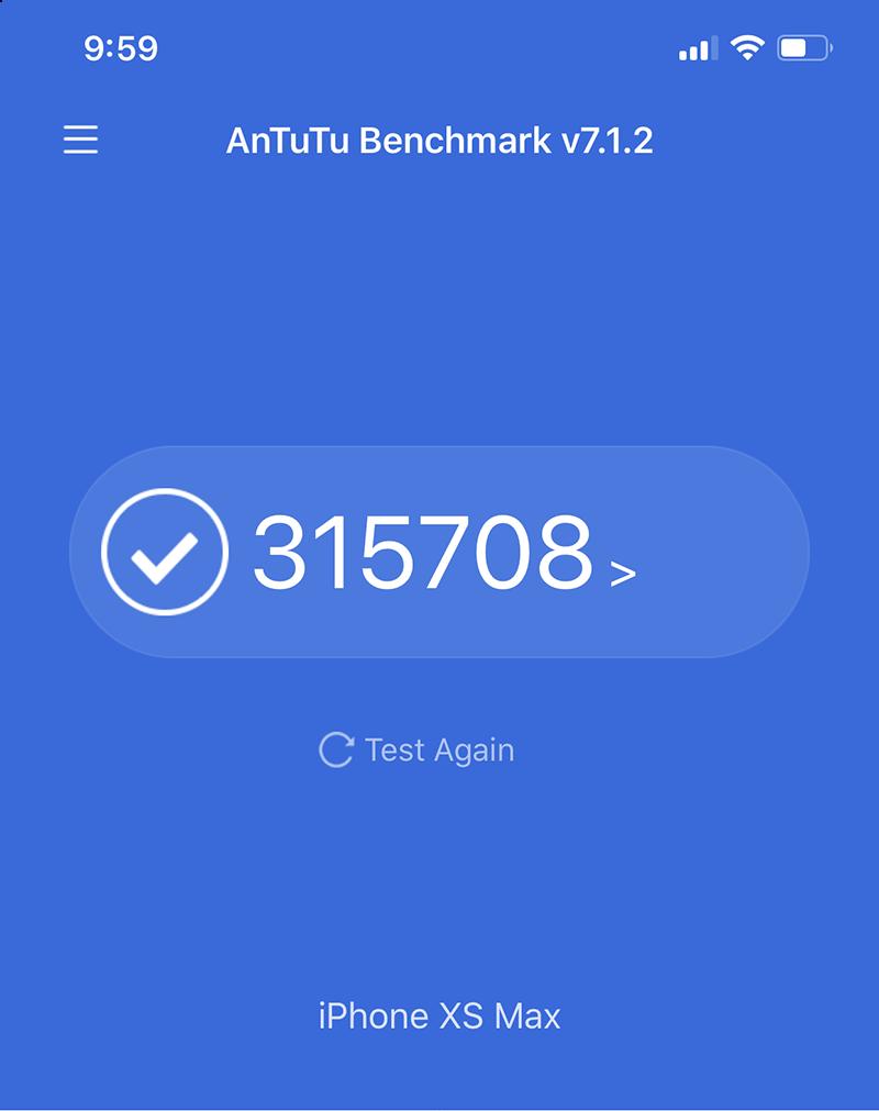Điểm Antutu Benchmark trên iPhone Xs Max
