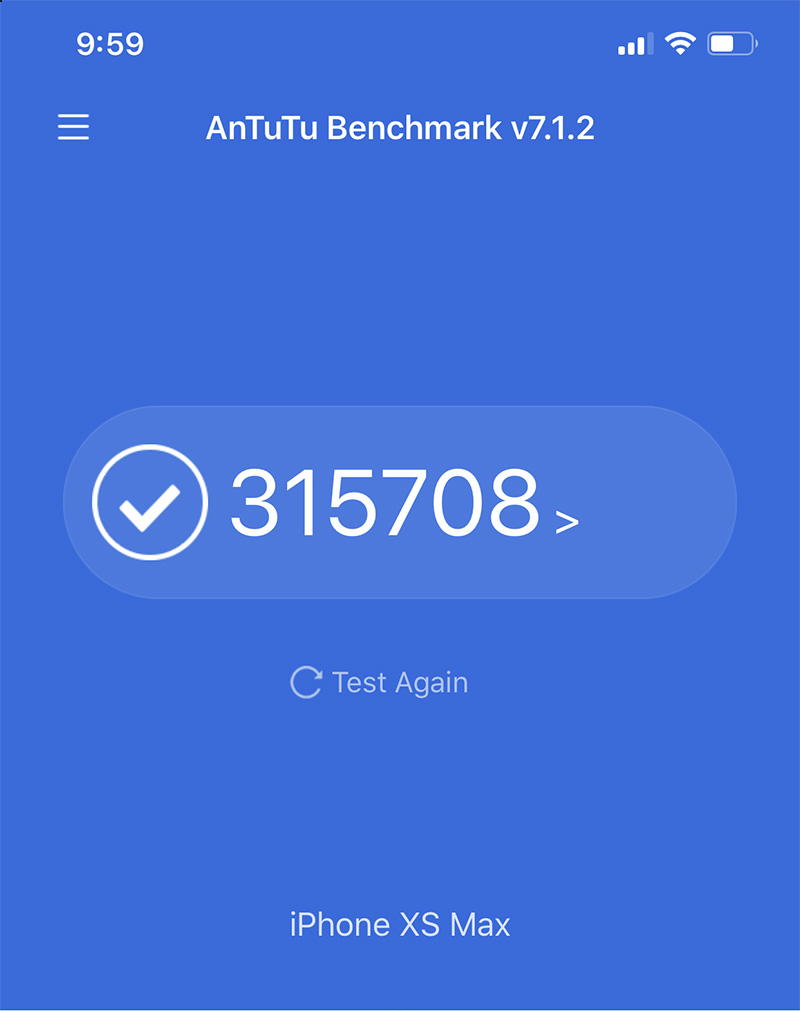 Điểm Antutu Benchmark iPhone Xs Max
