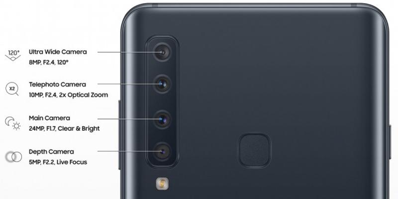 Phone - ទូរស័ព្ទ Samsung Galaxy A9 (2018) - កាមេរ៉ាមានមុខងារច្រើន