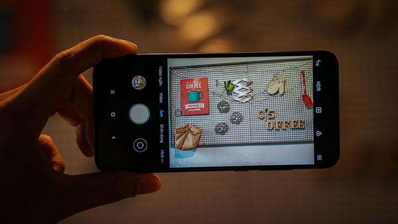 Giao diện camera điện thoại Xiaomi Mi 8 Pro chính hãng