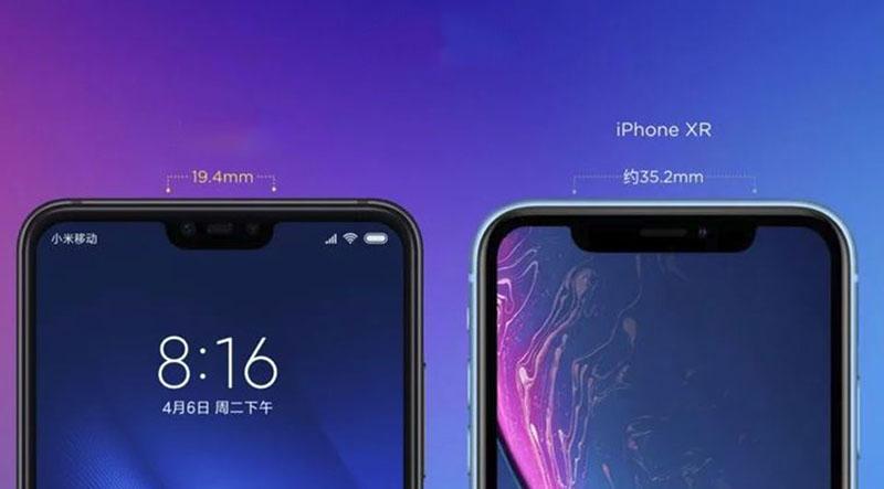 Màn hình của điện thoại Xiaomi Mi 8 Lite