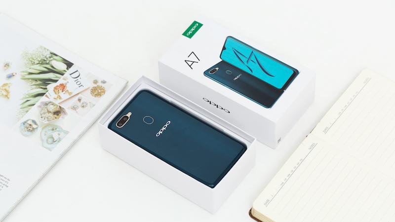 Phone - ទូរស័ព្ទ OPPO A7 - ស្រទាប់ខ្នងបញ្ចេញពន្លឺ 3D