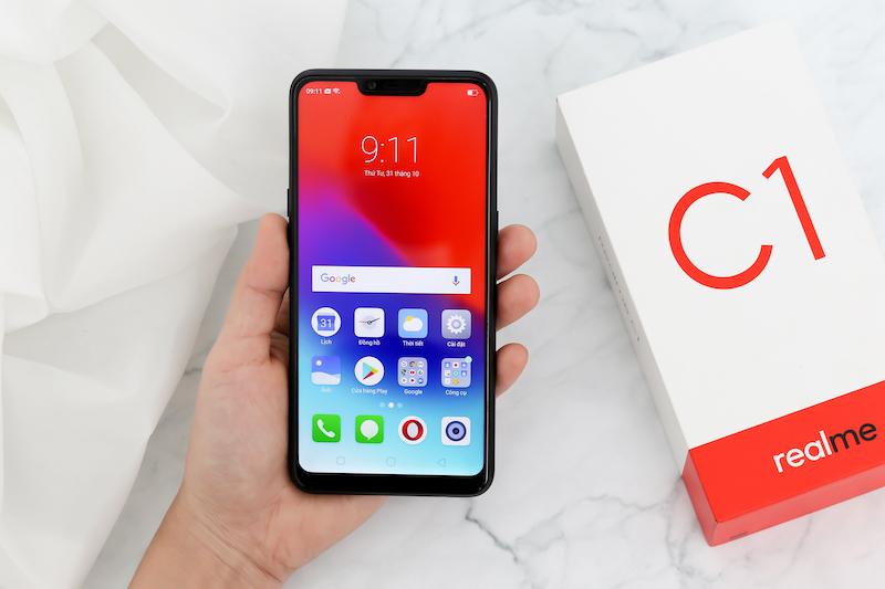 Giao diện Android điện thoại Realme C1 chính hãng