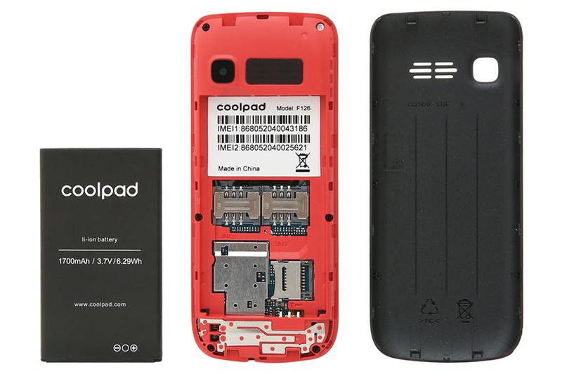 Khe sim, thẻ nhớ trên điện thoại Coolpad F126 chính hãng