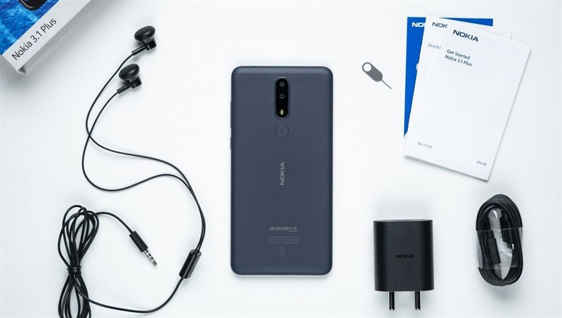 Thiết kế của điện thoại Nokia 3.1 Plus