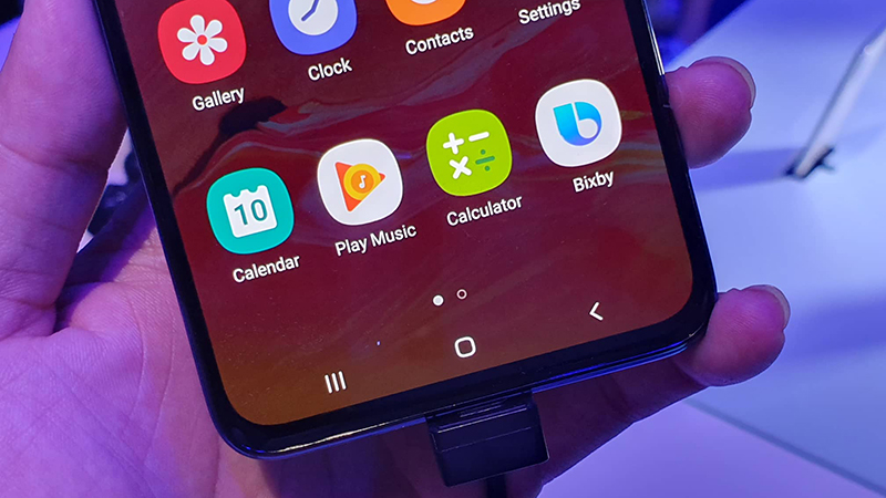 Mở khoán vân tay dưới màn hình điện thoại Samsung Galaxy A70 chính hãng