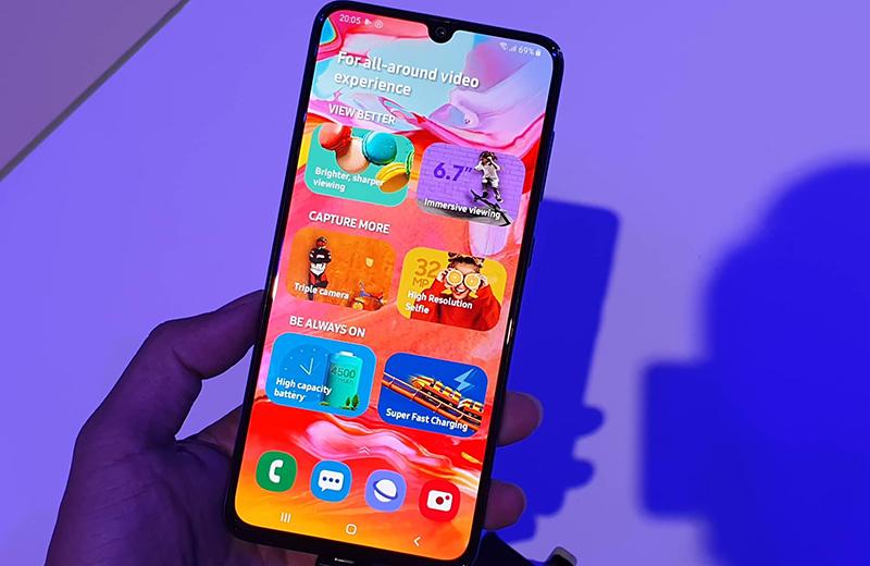 Màn hình điện thoại Samsung Galaxy A70 chính hãng