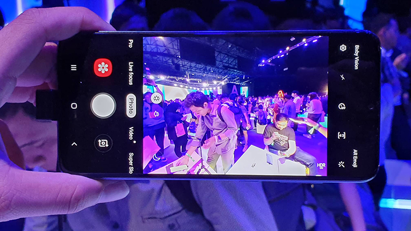 Giao diện camera điện thoại Samsung Galaxy A70 chính hãng
