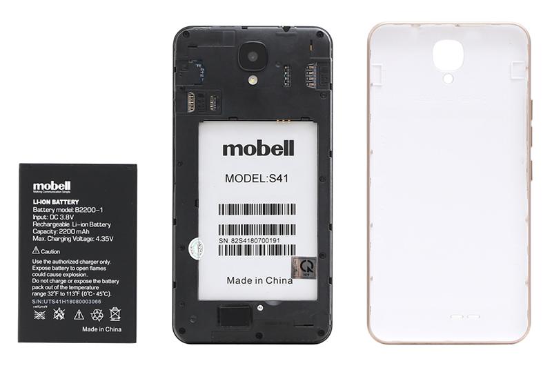 Dung lượng pin dùng thoải mái trên điện thoại Mobell S41 chính hãng