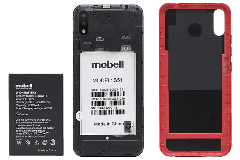 Dung lượng pin thoải mái sử dụng trên điện thoại Mobell S51 chính hãng
